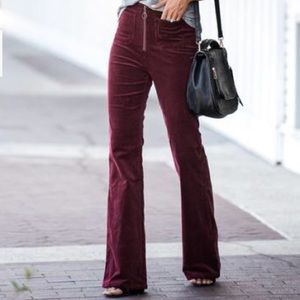 NWT POCKETED CORDUROY BELL BOTTOMS